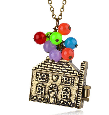 Balloon House Locket Quirky Necklace