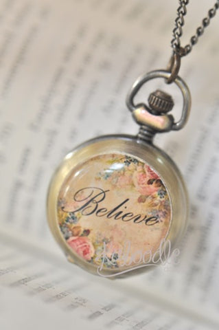 Believe in Vintage - Handmade Pocket Watch Necklace