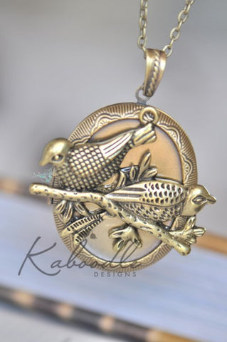 Birds on a Branch Locket Necklace
