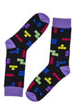 Novelty Fun Socks - Retro Tetris