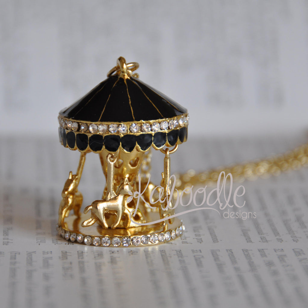 Quirky Carousel Merry-Go-Round Circus Fun Necklace