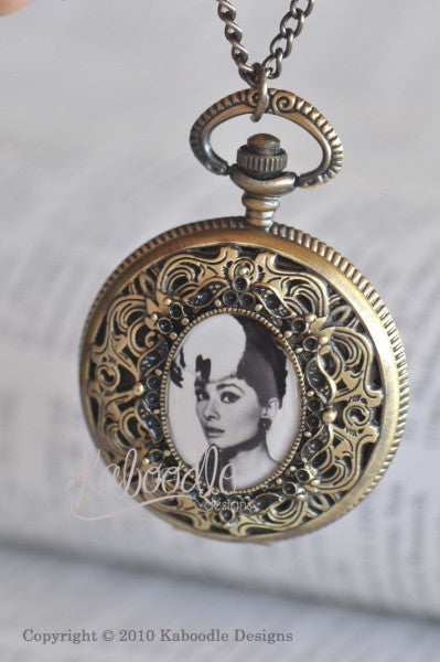 Classic Audrey - Pocket Watch Necklace