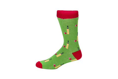 Novelty Fun Socks - Cricket