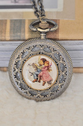Charming - Large Pocket Watch Necklace