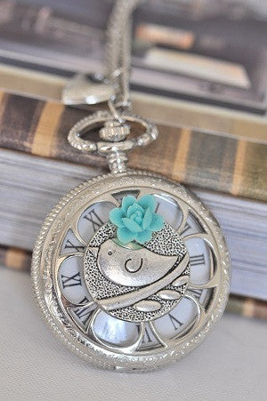 Cleo - Pocket Watch Necklace