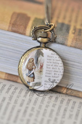 Alice Story Pocket Watch Necklace