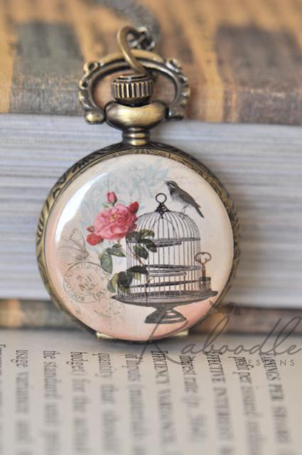 On the Edge Pocket Watch Necklace