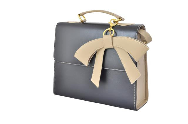 Black Box Bag with Bow