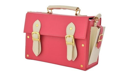 Double Strap Medicine Bag in Pink