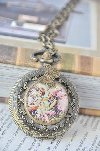 At the circus - Pocket Watch Necklace