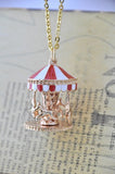 Carousel Merry Go Round Kitsch Necklace