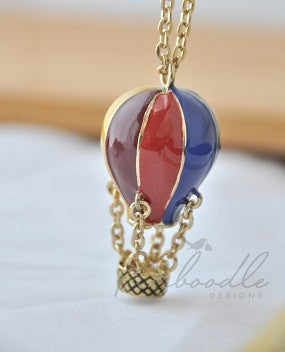 Large Kitsch Hot Air Balloon Necklace