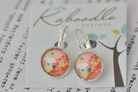Handmade Round Clip Dangle Earrings CDE3