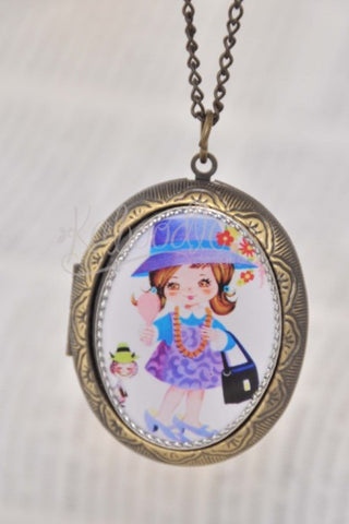 Dress Up - Little Girl Vintage Oval Locket