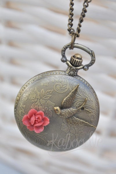 Early Bird - Pocket Watch Necklace