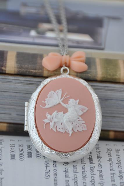 Fairy Butterfly Locket Necklace