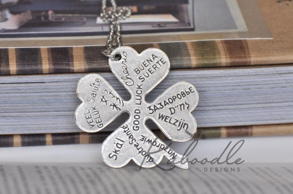 Goodluck Clover Necklace in Silver