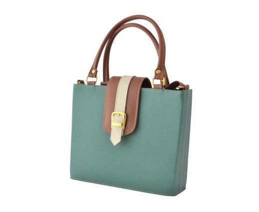 Green Handbag with long Handle