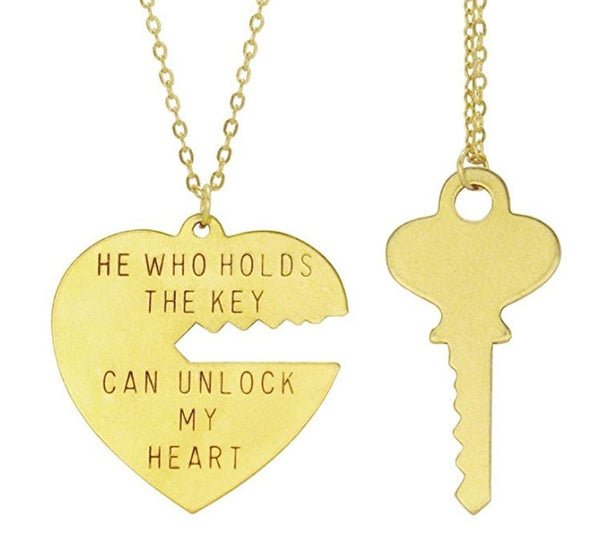 He Who Hold The Key To My Heart Necklace