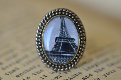 Handmade Artwork Ring - Eiffel Tower 4