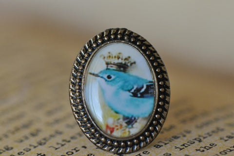 Handmade Artwork Ring - King Bird