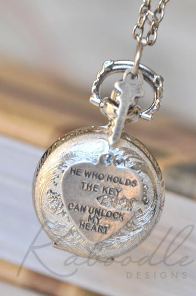 He Who Holds The Key - Pocket Watch Necklace