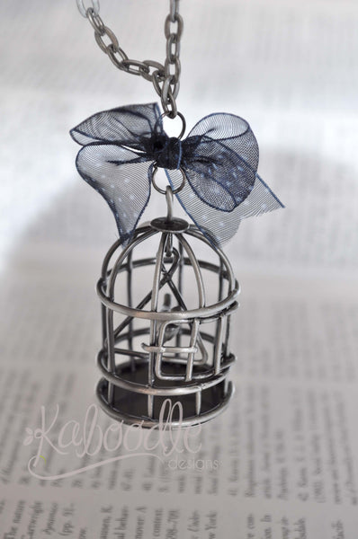 Hello Bird - Bird Cage Necklace