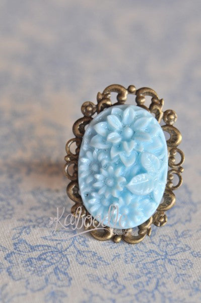 Hello Blooms in Morning Glory - Vintage Inspired Ring
