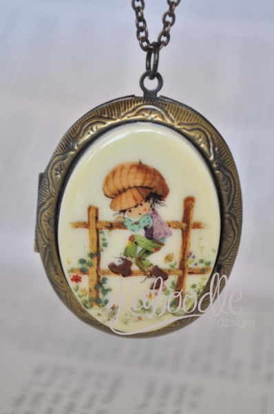 Holly Hobbie Little Farmer Large Locket