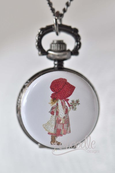 Holly Hobbie - Pocket Watch Necklace