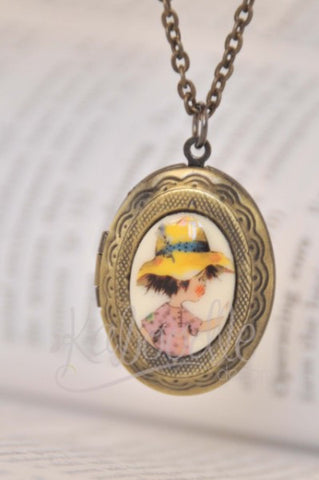 Holly Hobby Farmer Boy- Small Oval Locket