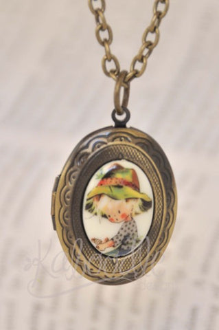 Holly Hobby Farmer - Small Oval Locket