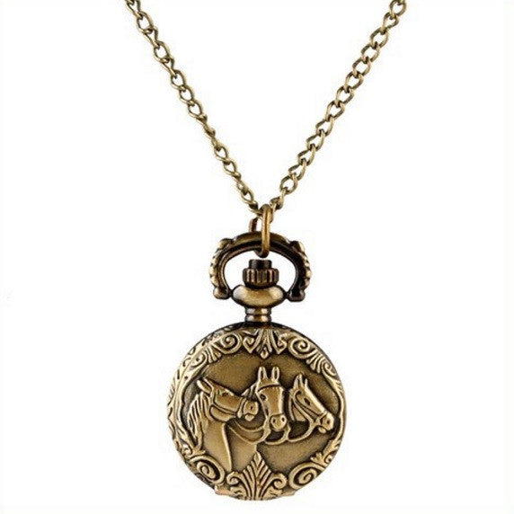 Horse - Small Pocket Watch Necklace