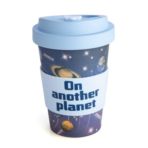 Space Universe Galaxy Planets Eco To-Go Bamboo Cup Travel Mug