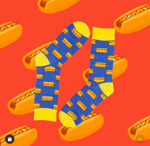 Novelty Fun Socks - Hotdog