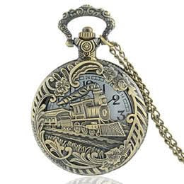 STEAM TRAIN - Large Pocket Watch Necklace
