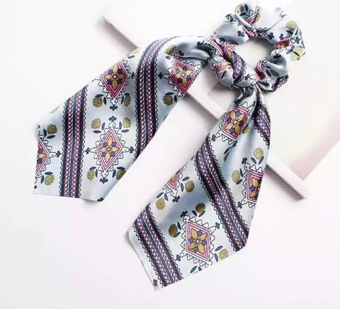 Bohemian Scrunchie Scarf Bow Hair Tie