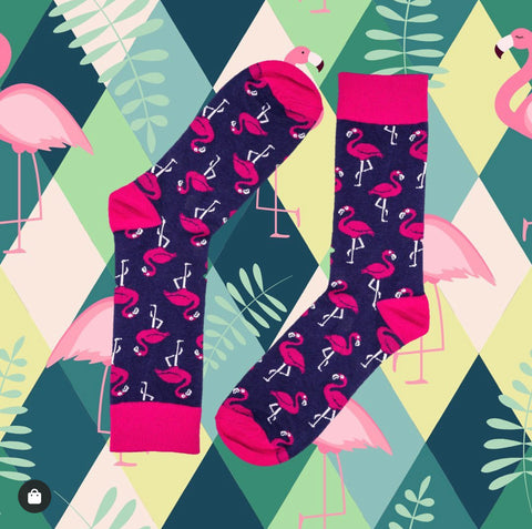 Novelty Fun Socks - Flamingo