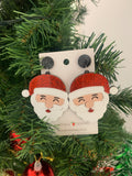 Acrylic Perspex Laser Cut Santa Claus Christmas Drop Earrings