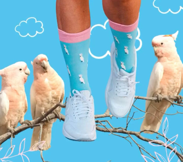 Novelty Fun Socks - Cockatoo