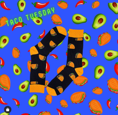 Novelty Fun Socks - Taco
