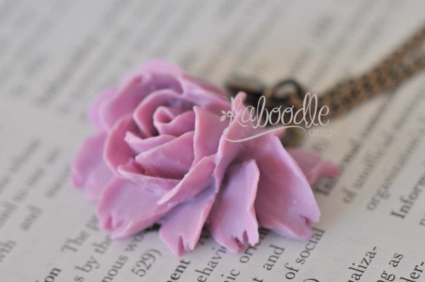 Isabella in Purple - Flower Necklace