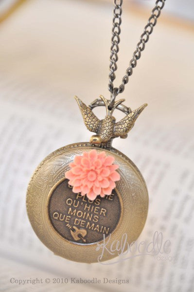J'aime la France - Pocket Watch Necklace