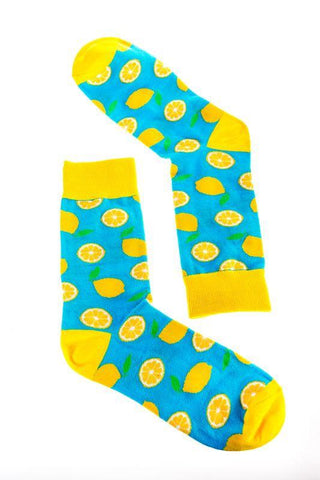 Novelty Fun Socks - Lemon