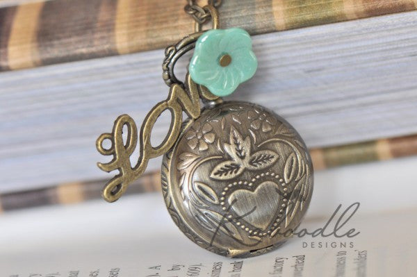 Love Blossoms - Pocket Watch Necklace