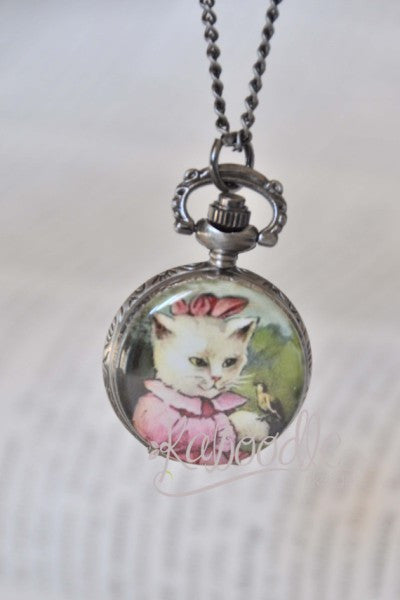 Madam Kitty - Pocket Watch Necklace