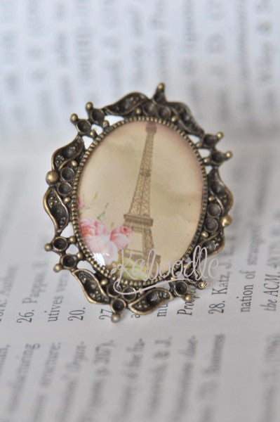 Memories of Paris - Vintage Inspired Eiffel Tower Ring