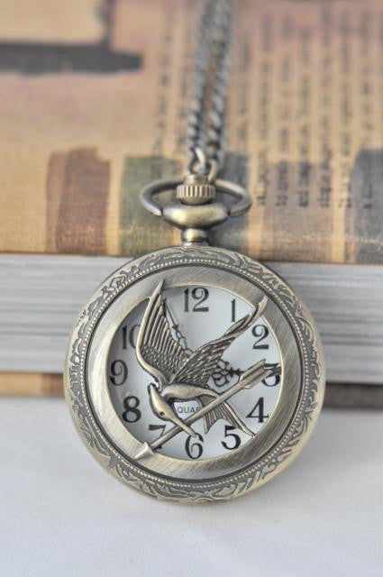 Mockingjay Pocket Watch Necklace - Large