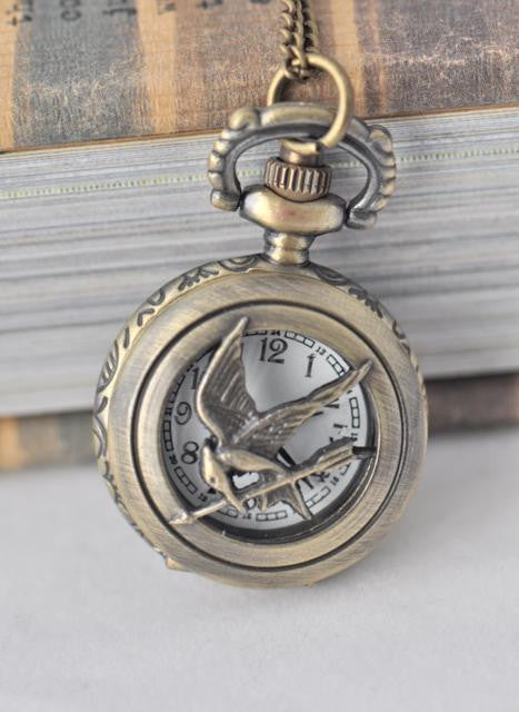 Mockingjay Pocket Watch Necklace - Small