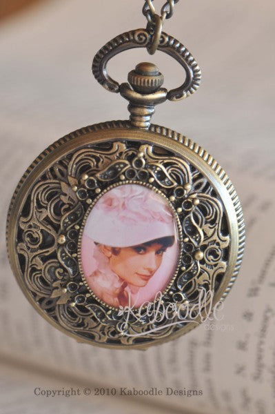 My Fair Lady - Audrey Hepburn Pocket Watch Necklace
